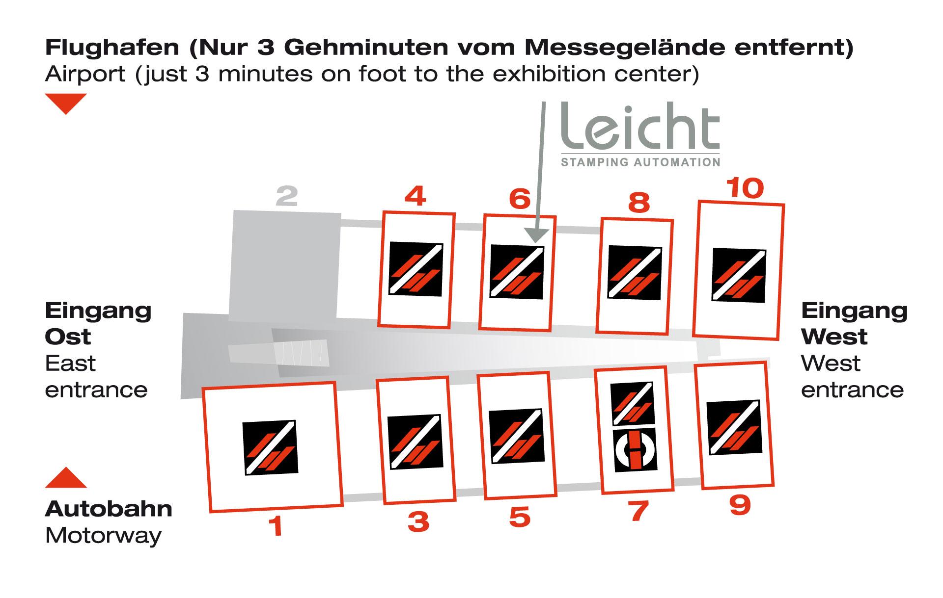 Hallenuebersicht_Blechexpo_Schweisstec_2019_Anreise